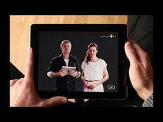 """Smartphones & Tablets intelligent für die eigene Botschaft einsetzen: Die Deutsche Telekom nutzt mit ihrer CSR-App """"We Care"""" den Bewegungssensor für die Präsentation von zwei unterschiedlichen Perspektiven."""