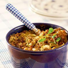 Ohrainen kaalilaatikko on perinteiseen tapaan valmistettu kaalilaatikko, jossa maistuu viljaisa ohra.