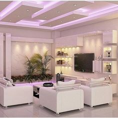 🌟 💖 🌟 💖 20 decoration of living room in white and lay in The lounges or lobbies are places where we spend a lot of time in the house.These are the places that are more natural o we want no. Drawing Room Ceiling Design, House Ceiling Design, Ceiling Design Living Room, Bedroom False Ceiling Design, False Ceiling Living Room, Ceiling Light Design, Home Ceiling, Living Room Designs, Lobby Design