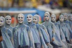 Solenidade de abertura da Copa do Mundo, no Itaquerão. Foto: Dimitar Dilkoff/AFP