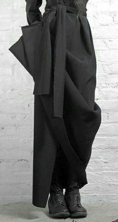 Like the length, drape, fabric, belt - Yohji Yamamoto