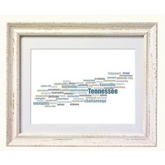"Tennessee City Map, Typography Art print. Perfect for 10""x8"" frames.. $10.00, via Etsy."