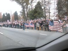 """Westboro church tried to protest a funeral. This was the """"shield"""" for 5 miles."""