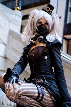 SteamPunk Girl / wasteland dieselpunk / women's fashion / alternative fashion / cosplay / LARP / post apocalyptic inspiration