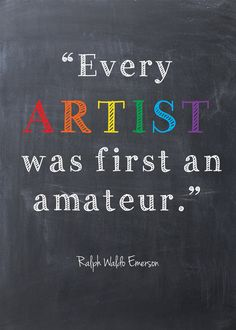 "Child's art print -- ""Artist"" -- Emerson quote -- Chalkboard Style -- Instant Download -- Printable"