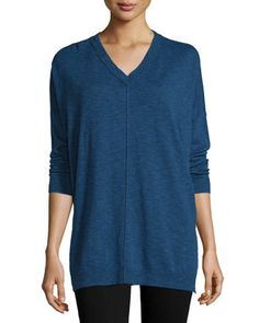 Classic+V-Neck+Box+Top+by+Eileen+Fisher+at+Neiman+Marcus.