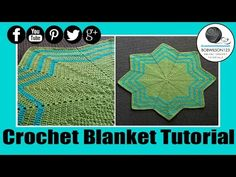 Crochet Waves 8 point Blanket - YouTube
