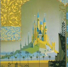 The work of Eyvind Earle, the painter who made the concept art for Disney's Sleeping Beauty