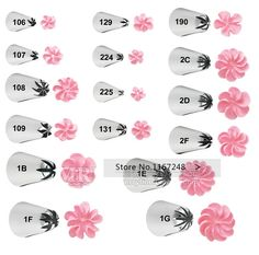 Beautiful Flowers Nozzles Tips Decorating Pen Cupcake Decorating Sugarcraft Cake Decorating Tools Icing Tip Nozzles Bakeware