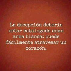 La decepción...*