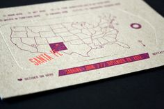 Modern Neon Destination Wedding Invitations by Smudge Ink via Oh So Beautiful Paper (10)