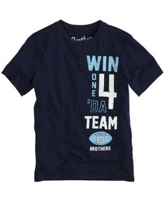 """Justice/Brothers dark blue """"Win one 4 'da team"""" (front only) for boy dolls"""