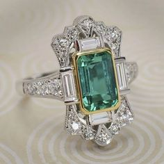 Emerald wedding rings - Square Green Stone Anniversasry Rings for Women Vintage Jewelry Luxury Pave Crystal Ring Engagement Gift Ring Accessories – Emerald wedding rings Emerald Wedding Rings, Silver Wedding Jewelry, Black Gold Jewelry, Gold Filled Jewelry, Silver Ring, Silver Earrings, Emerald Rings, Ruby Rings, Art Deco Emerald Ring