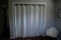 dorm closet curtain
