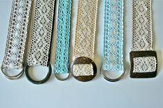 DIY:: 30 Minute Lace Belt Tutorial