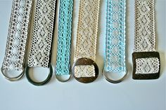 DIY:: 30 Minute Lace Belt Tutorial. This would only work if it were subtle enough and went with the outfit..