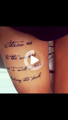 Upper thigh tattoo❤️ #thightattoos Upper Thigh Tattoos, Thigh Tattoo Quotes, Fish Tattoos, Thighs, Thigh, Stockings