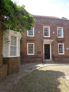 Lamb House in Rye in the 18th century King George I stayed here when his ship ran aground at Camber Sands, East Sussex, England.