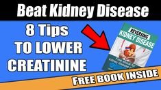 click the picture to get your free eBook. It's in description!  #kidneydisease #kidneyfailure #dialysis #chronickidneydisease Creatinine Levels, Kidney Health, Chronic Kidney Disease, Kidney Failure, Dialysis, Free Ebooks, You Got This, How To Get, Tips