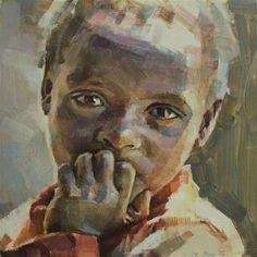 """Young Ethiopian Girl"" - Original Fine Art for Sale - © Taryn Day"