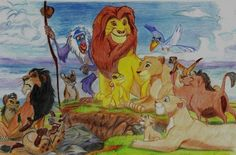 My sketch of the Lion King characters :)