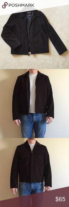 Banana Republic Men's Suede coat Genuine suede coat. Dark chocolate brown.Zips up. Two side pockets. No signs of wear. Banana Republic Jackets & Coats Bomber & Varsity