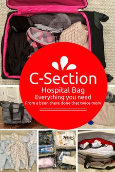 The ultimate guide to packing a hospital bag for a c section! Written by a been there done that twice mom. Goes over exactly what you need.