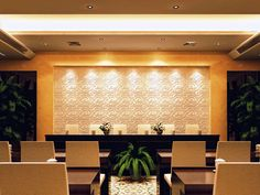 "A commercial conference room emitting a lovely visual effect with a ""Peony"" feature wall. Wall Panel Design, 3d Wall Panels, Panel Wall Art, Interior Paint Colors, Interior Walls, Decorative Wall Tiles, 3d Wall Art, Beautiful Interior Design, Wall Treatments"