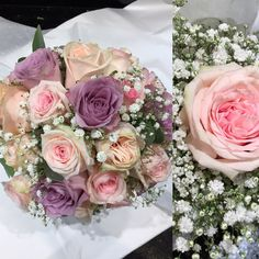 Pastel shades rose wedding bouquets by Gail