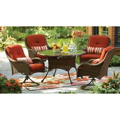 I really like this set... the accessability of swivel, but the comfort and beauty of wicker!
