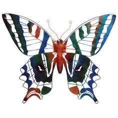 Metalen deco vlinder