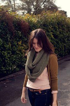 fall-scarves chunky circle scarf