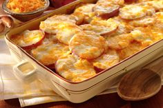 Our Scalloped Potatoes with Cheese are the perfect dish to bring the whole family together!