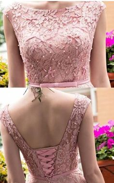 New Blush Pink Elegant Tea Length Full Lace Prom Dress Neck Cap Sleeves homecoming Gown Dubai with Bow, Shop plus-sized prom dresses for curvy figures and plus-size party dresses. Ball gowns for prom in plus sizes and short plus-sized prom dresses for Blouse Back Neck Designs, Silk Saree Blouse Designs, Fancy Blouse Designs, Latest Blouse Designs, Designer Blouse Patterns, Designer Dresses, Stylish Blouse Design, Marie, Fashion Dresses