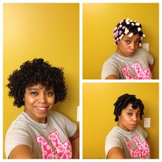 My very last hairstyle of 2013!  Rodset w/motions wrap lotion!  I'm in love with the results