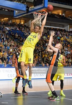 Jonas Wohlfarth-Bottermann of ALBA Berlin throws the ball during the game between Alba Berlin and ratiopharm Ulm on october 1, 2015 in Berlin, Germany.