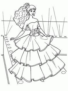barbie malvorlage - ausmalbilder für kinder | ausmalbilder kids | barbie malvorlagen