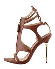 SECOND SKIN: B Brian Atwood's Merritta sandal - like a gladiator but with edge.