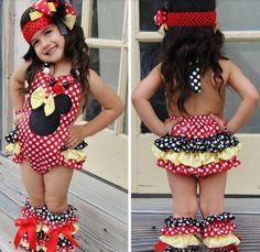 Red  amp  Yellow Minnie Mouse Baby Summer Romper  KidsBirthday   mickey amp minniebirthday   efdb0b223
