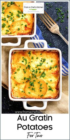 Potato Side Dishes, Side Dishes Easy, Side Dish Recipes, Gourmet Recipes, Cooking Recipes, French Potatoes, Easy Meals For One, Potatoes Au Gratin, Cooking For Two