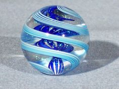 Marbles Hand Made Art Glass James Alloway Dichroic Marble 1369 9 Inch | eBay