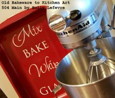 504 Main by Holly Lefevre: Old Bakeware + New Vinyl = Kitchen Art
