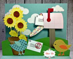 Crafting While I Wait: Sending Smiles ~ Pop Up Card