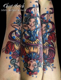 Snow White Tattoo by Chris Hatch Tattooist