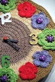 I love crochet & I love clocks! Crochet World, Crochet Home, Love Crochet, Crochet For Kids, Crochet Crafts, Crochet Flowers, Crochet Baby, Crochet Projects, Crochet Wall Art