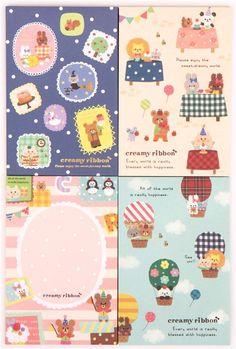cute animal rabbit cake cat Letter Set from Japan  1