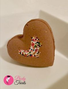 Bath Bomb Fizzy  Heart Shaped  Valentine's by BodyTreatsHomeSpa