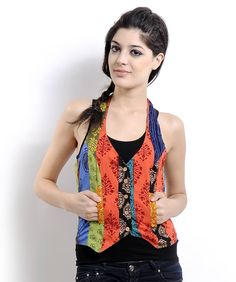 cotton patched waistcoat