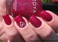 Valentine's Day manicure with Zoya Nail Polish in Blaze!