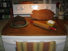 Thistle House Primitives: DIY Noodleboard/Stovetop Cover